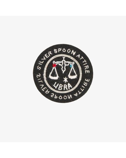Silver Spoon Attire | Black Libra Star Sign Badge | Lyst
