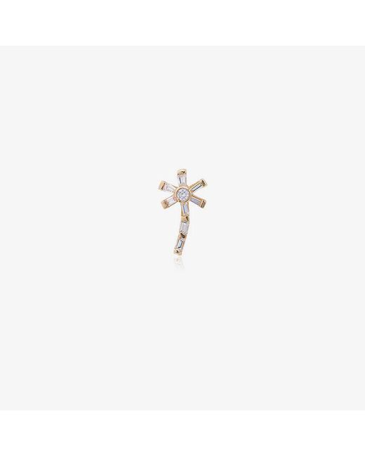 Yvonne Léon - Metallic 18k Gold And Diamond Palm Earring - Lyst