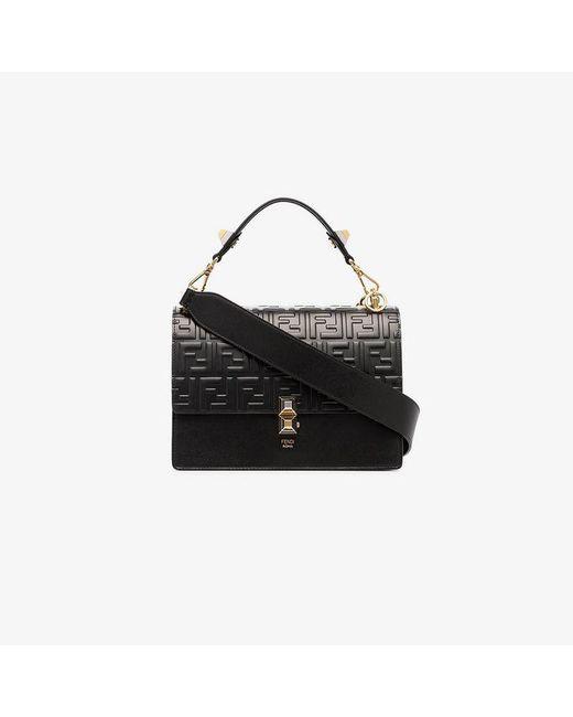 28ee9d5caaf8 Fendi Black Kan I Shoulder Bag in Black - Lyst