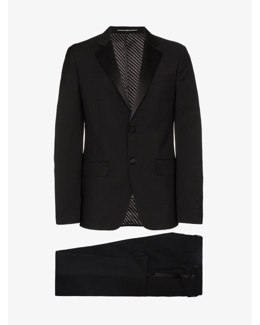 Givenchy Black Classic Notched Lapel Tailored Tuxedo for men