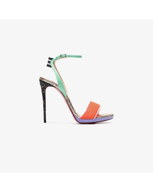 Christian Louboutin - Multicolor Multicoloured Discoport 120 Leather  Sandals - Lyst ... 448840803535