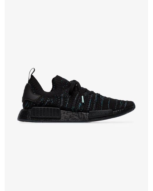 ... Adidas - Black Nmd R1 Knitted Sneakers for Men - Lyst ... 2744a3b65