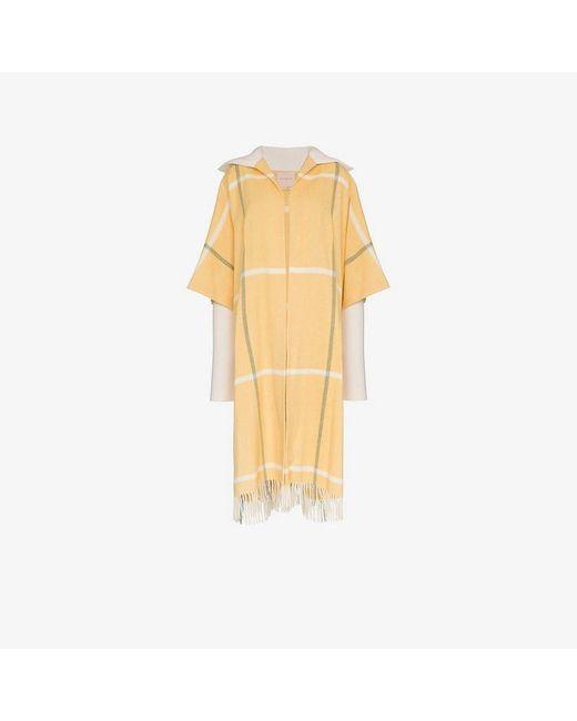 Roksanda - Yellow Leisha Blanket Coat - Lyst