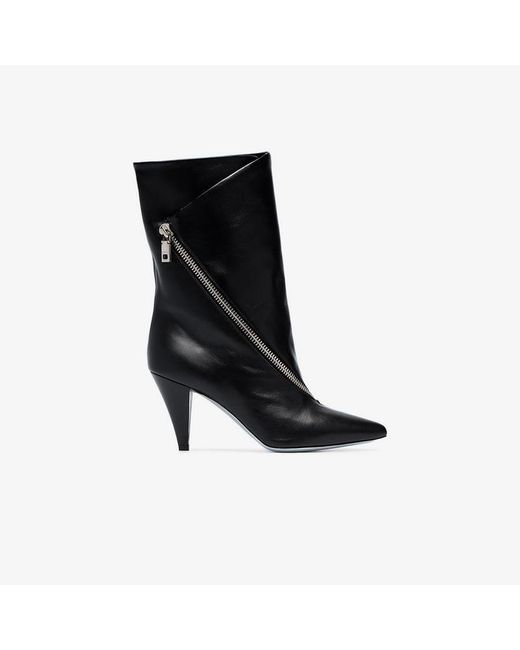 3ff140a2553a Givenchy - Black Zip-detail 80 Leather Ankle Boots - Lyst ...