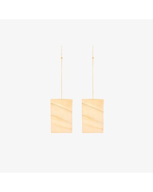 Marques'Almeida | Metallic Marquesalmeida Wavy Plate Earrings | Lyst