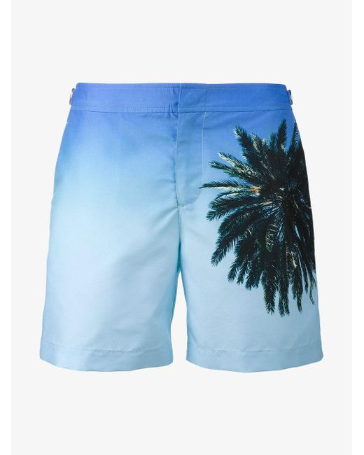 Orlebar Brown - Blue Bulldog Palm Reacher Swim Shorts for Men - Lyst