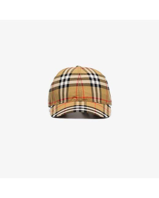Burberry - Multicolor Vintage Check Baseball Cap - Lyst