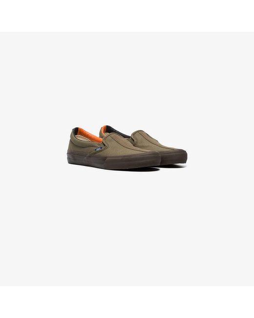 206e1ac584 Vans - Multicolor Green Vault Cotton Slip On Sneakers for Men - Lyst ...