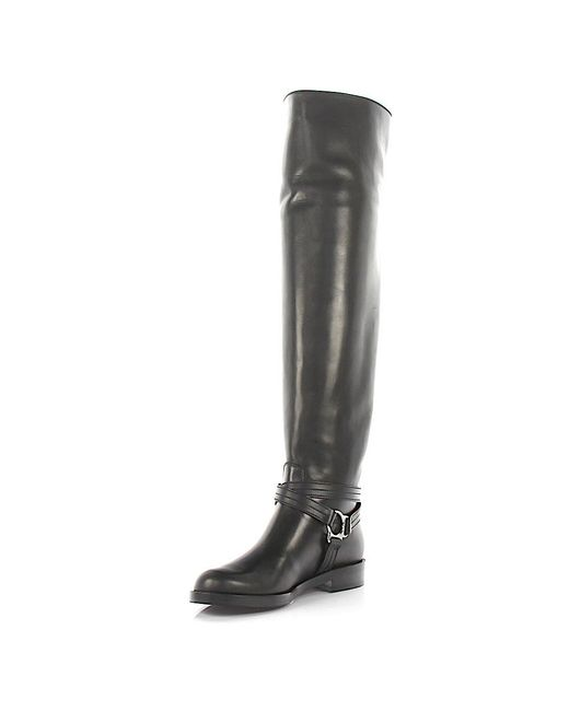 Gianvito Rossi | Overknee Boots Shetland Nappa Leather Black | Lyst