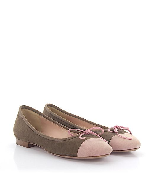 Unützer - Multicolor Ballerinas 6746 Suede Brown Pink - Lyst