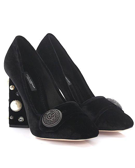Dolce & Gabbana - Pumps Jackie Velvet Black - Lyst