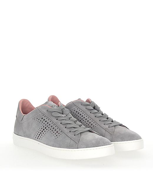 Tod's - Gray Sneaker A0t490 Veloursleder Grau Lochmuster for Men - Lyst