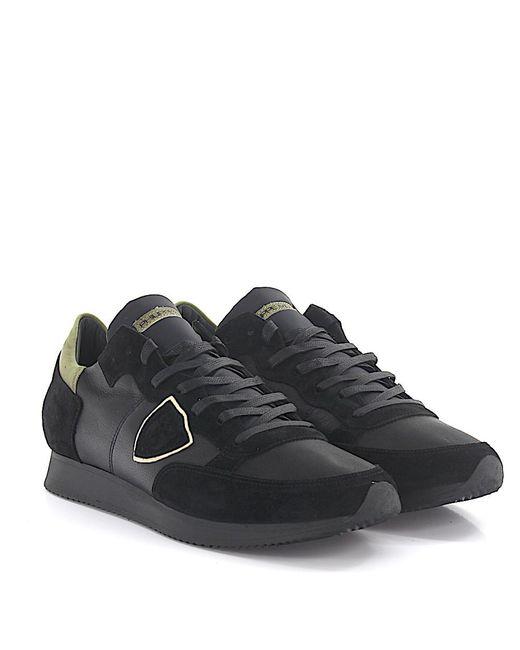 Philippe Model - Sneaker Tropez Low Leather Suede Black for Men - Lyst