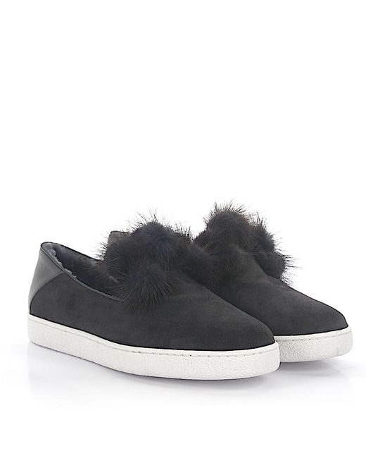 UNüTZER Slippers 8131 leather suede fur Supply Cheap Online Sale Online Store VW3y6I0MZ