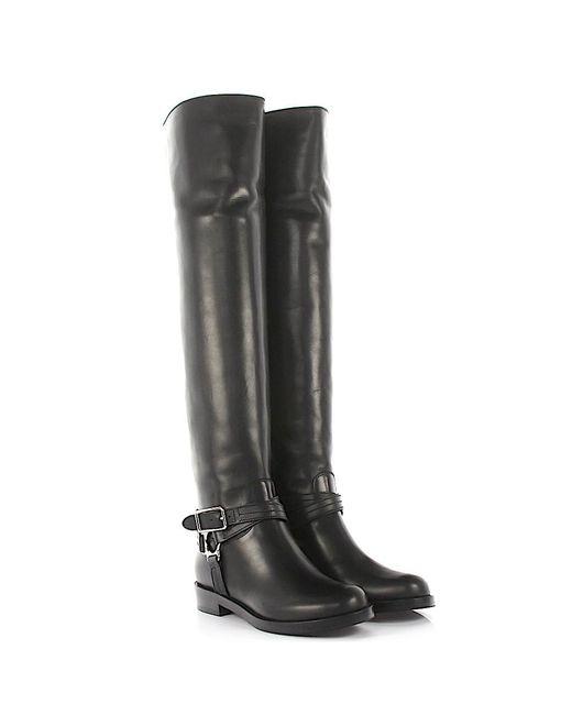 Gianvito Rossi - Overknee Boots Shetland Nappa Leather Black - Lyst