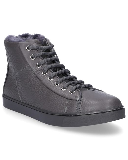 Gianvito Rossi - Gray High-top Sneakers Peter Smooth Leather Embossing Grey - Lyst