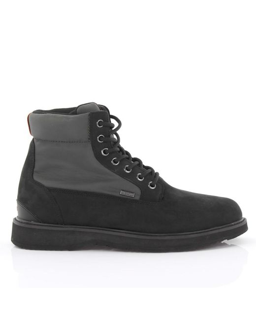 Swims - Boots Barry Workboot Nubuck Leather Black Nylon Green for Men - Lyst