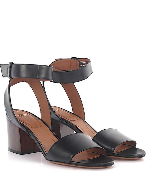 Givenchy - Sandals Calfskin Smooth Leather Black - Lyst