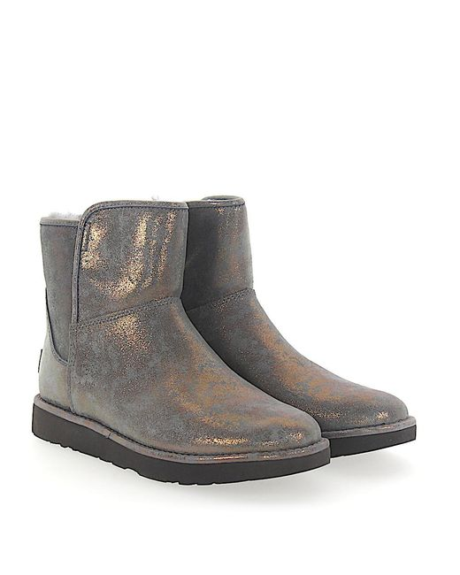 Ugg - Gray Boots Abree Mini 2 Suede Grey Bronze Finished - Lyst