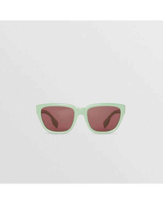 8ede45a32b9 Burberry - Green Square Frame Sunglasses - Lyst ...