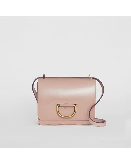 a20d96a1d2e7 Burberry - Pink The Small Patent Leather D-ring Bag - Lyst ...