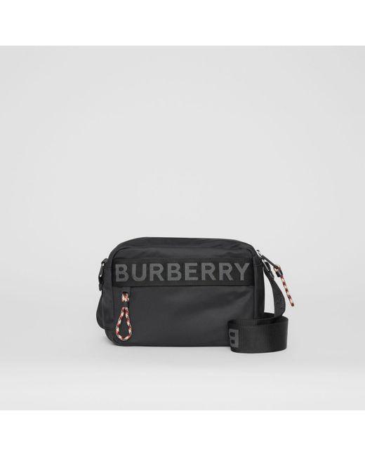 Burberry - Black Logo Detail Crossbody Bag for Men - Lyst ... 4e55819d4f495