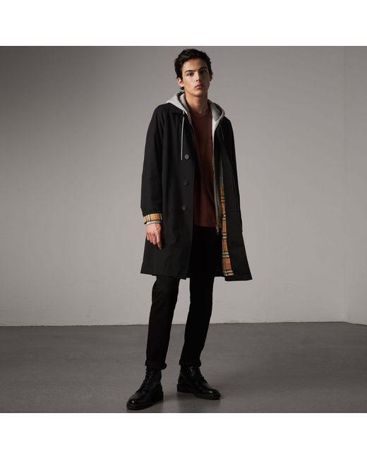 Burberry | The Camden – Long Car Coat In Black - Men | for Men | Lyst