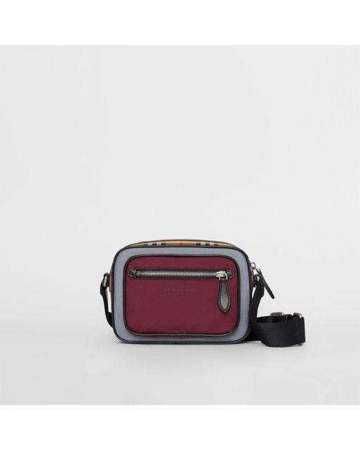 0689c9f13388 Burberry - Multicolor Colour Block Vintage Check Crossbody Bag for Men -  Lyst ...