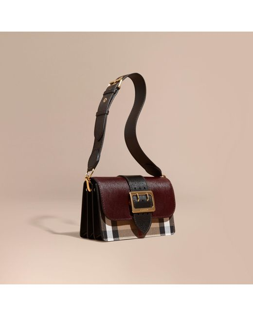 37d851480696 Burberry The Medium Buckle Bag In House Check And Textured .