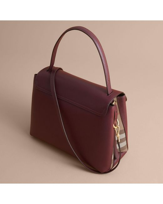 7ab8361ef551 Burberry Medium Grainy Leather And House Check Tote Bag .