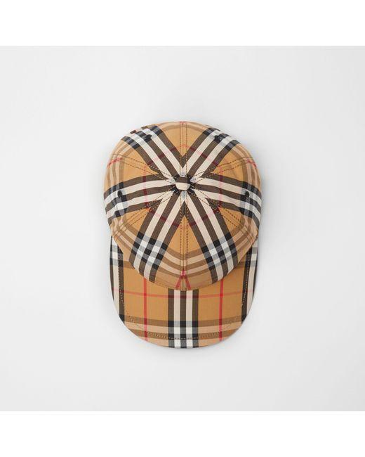 307e9c3dd6 Burberry - Multicolor Vintage Check Baseball Cap - Lyst ...