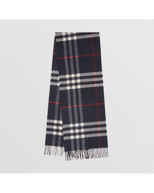 144cecf00c7b Burberry - Blue The Classic Cashmere Scarf In Check Navy - Lyst ...