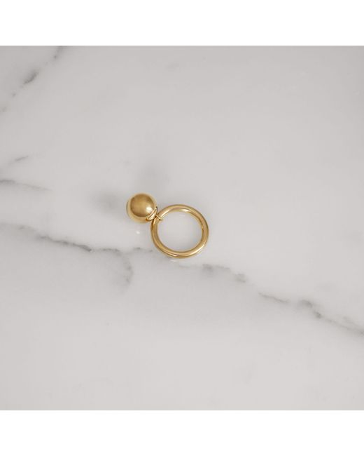 Burberry - Metallic Charm Gold-plated Ring - Lyst