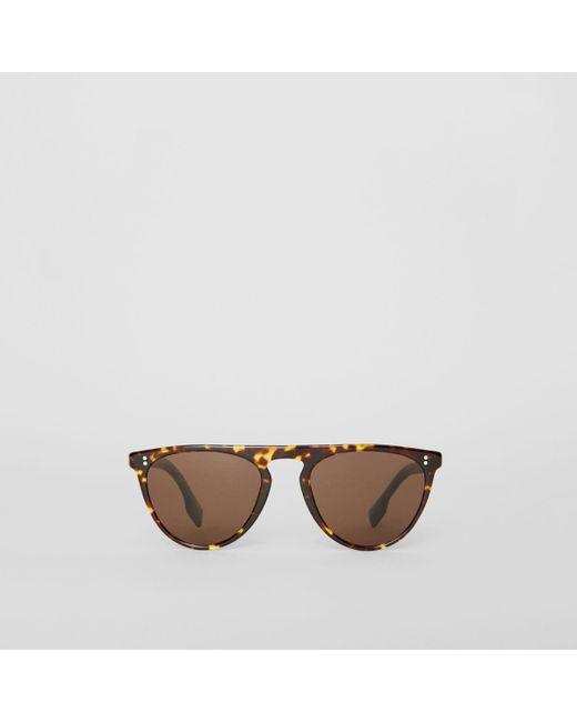 47c1b86bb8b2 Burberry - Brown Keyhole D-shaped Sunglasses for Men - Lyst ...