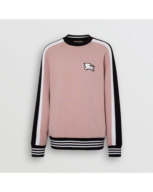 0cfc91184308 ... Burberry - Multicolor Stripe Detail Cotton Jersey Sweatshirt for Men -  Lyst