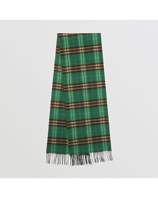 Burberry - Check Cashmere Scarf In Forest Green | for Men - Lyst