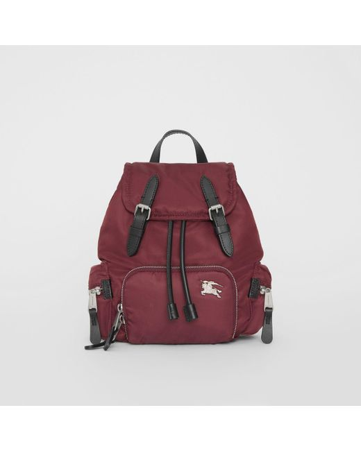 056275be3e02 Lyst - Burberry The Small Crossbody Rucksack In Puffer Nylon in Red ...