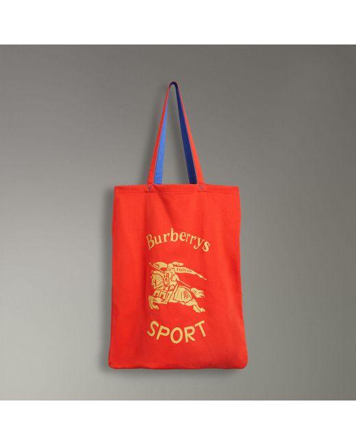 Archive Logo Tote - Red Burberry Iz445qJm