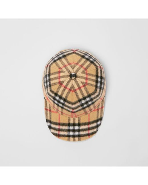 6f05e9b1dc Burberry - Multicolor Vintage Check Wool Baseball Cap - Lyst ...