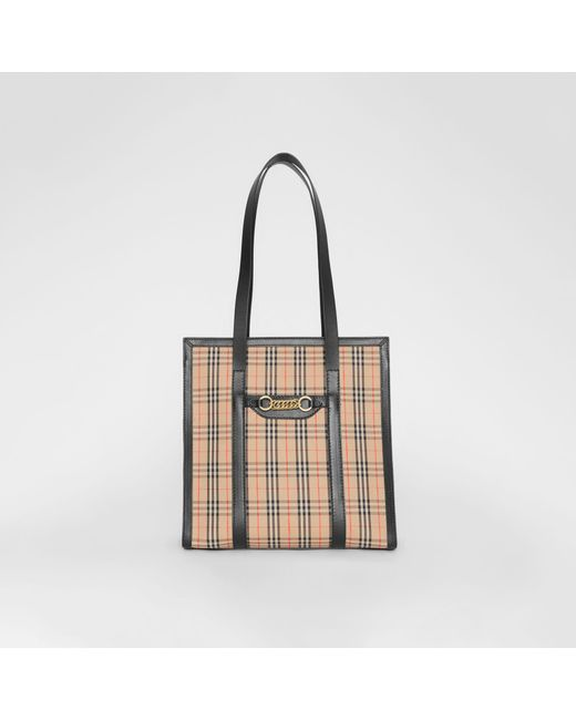 Burberry - Black The Small 1983 Check Link Tote Bag - Lyst