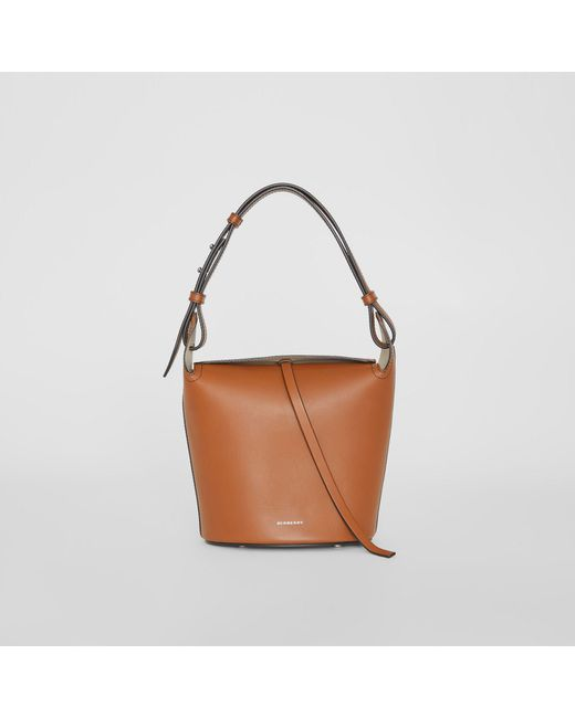 2b941d9c3b89 Burberry - Brown The Small Leather Bucket Bag - Lyst ...