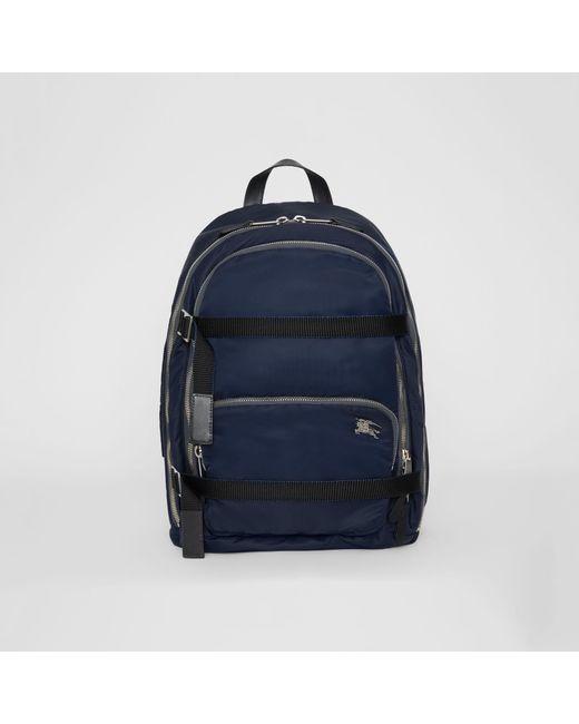 b9882b764bc0 Burberry - Blue Grand sac à dos en nylon avec emblème du Cavalier for Men  ...