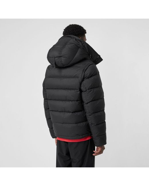 151e183013f61 ... Burberry - Black Detachable-sleeve Down-filled Hooded Puffer Jacket for  Men - Lyst ...