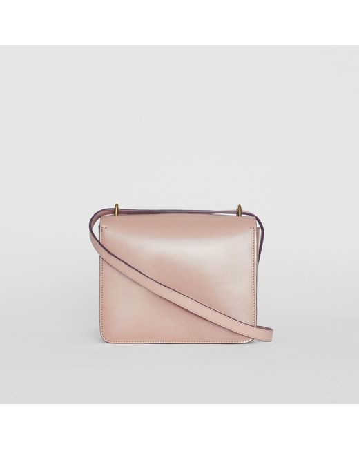 19d5f75ccf93 ... Burberry - Pink The Small Patent Leather D-ring Bag - Lyst