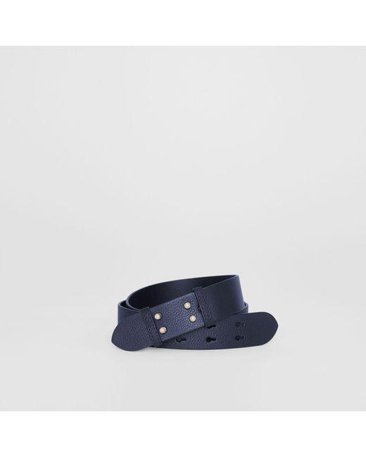 74df1065d8 ... closeout burberry blue the small belt bag grainy leather belt lyst  881d2 56f36