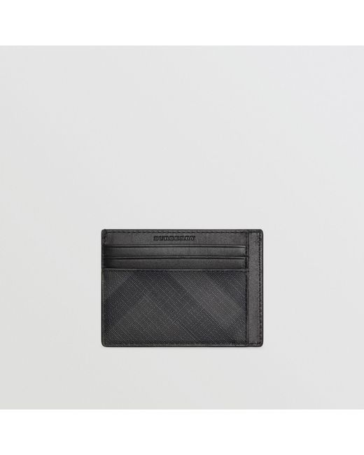 Burberry - London Check Card Case In Charcoal/black - Men   Burberry for Men - Lyst