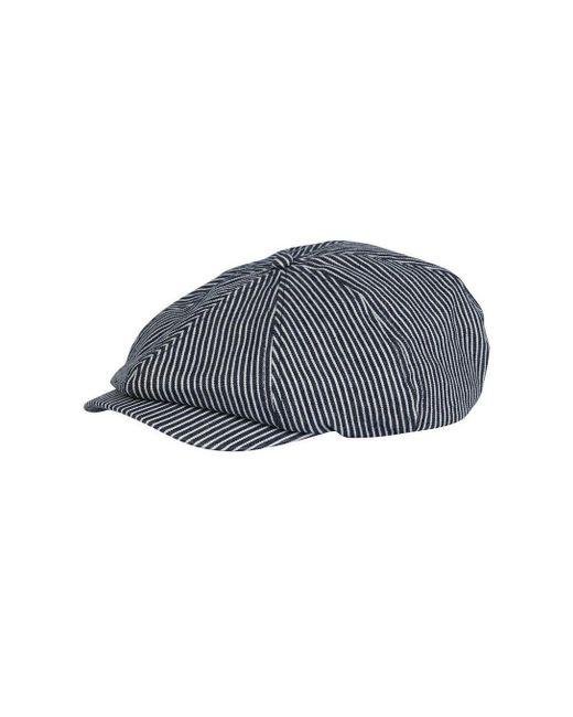 968fa607d42 Burton Blue Striped Baker Boy Cap in Blue for Men - Lyst