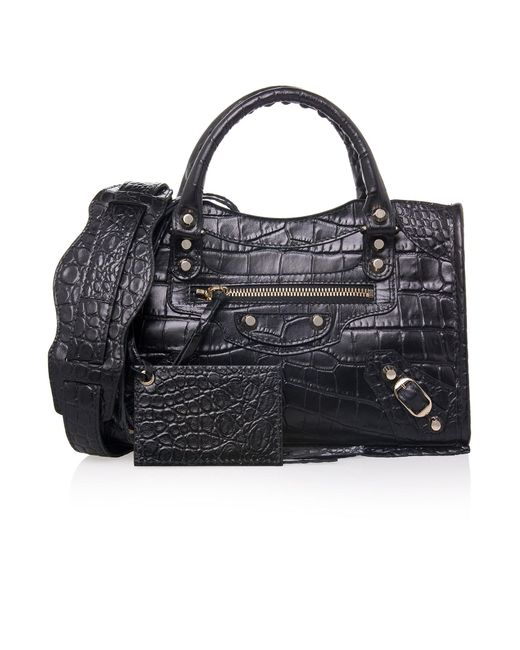 Balenciaga | Black Giant Mini City Tote Bag | Lyst