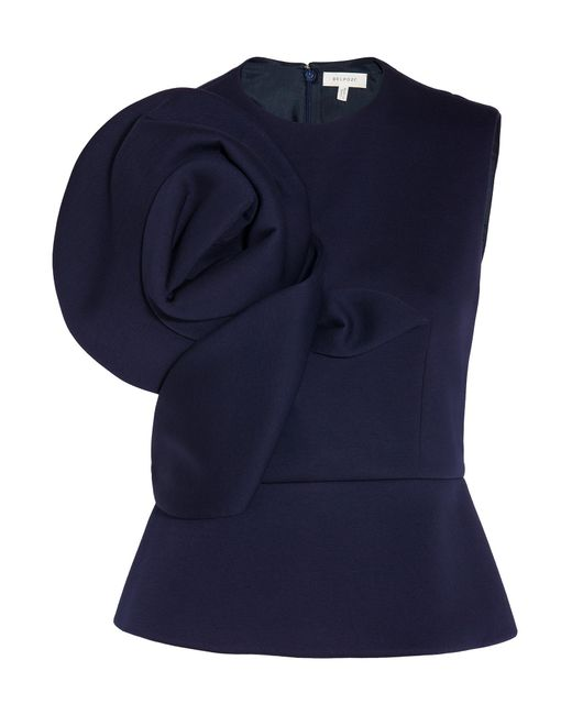 Delpozo | Blue Neoprene Sleeveless Top | Lyst