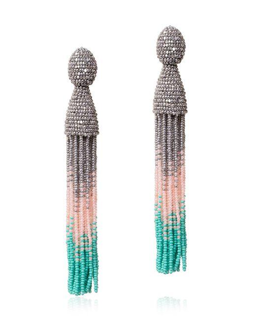 Oscar de la Renta | Multicolor Ombre Tassel Earrings | Lyst